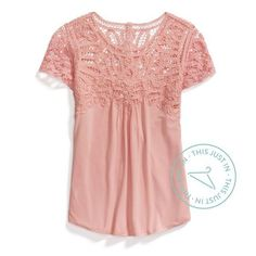 **** Blush lace top blouse. Could be worn to work or casually on the weekend. Stitch Fix Fall, Stitch Fix Spring Stitch Fix Summer 2016 2017. Stitch Fix Fall Spring fashion. #StitchFix #Affiliate #StitchFixInfluencer:
