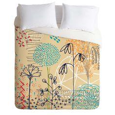 Kerrie Satava Spring Raindrops Duvet Cover   DENY Designs Home Accessories