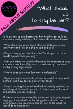 Vocal Lessons, Singing Lessons, Singing Tips, Music Lessons, Singing Training, Vocal Training, Singing Classes, Learn Singing, Singing Techniques