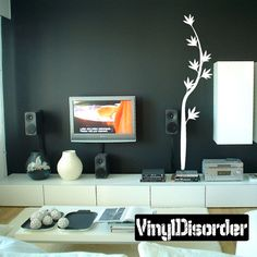 Exoctic Flower Vine Wall Decal - Vinyl Decal - Car Decal - BA046