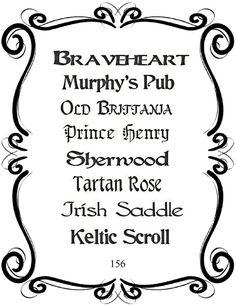 Pretty Font Series 156 - Instant download Murphys Pub, Pretty Fonts, Braveheart, Script, Singer, Etsy, Beautiful Fonts, Script Typeface, Cute Fonts