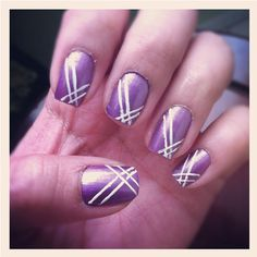 Light purple nails.