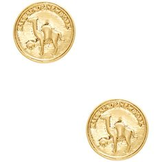 kate spade new york Women's Flip A Coin Stud Earrings - Gold ($35) ❤ liked on Polyvore featuring jewelry, earrings, gold, kate spade jewelry, gold earrings, coin jewelry, coin earrings and 14k stud earrings