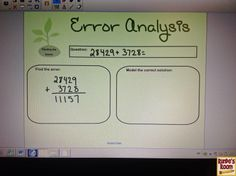 """""""My Favorite No"""" - I absolutely LOVE this! Great way to differentiate and conduct formative assessment while teaching students to find errors in their work."""