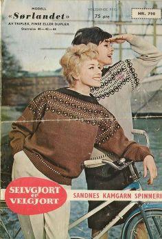 Sørlandet 798. Sandnes kamgarn spinneri A/S. Embroidery Patterns, Knitting Patterns, Norwegian Knitting, Colour Combinations, Tapestry Weaving, Vintage Knitting, New Image, Sorting, Spirit