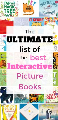 I scoured the library, the web, and my own bookshelves to bring you the ultimate list of the BEST interactive picture books for preschoolers and up. These aren't the lift-the-flap, touch-and-… Interactive Books For Preschoolers, Preschool Books, Book Activities, Therapy Activities, Toddler Books, Childrens Books, Baby Books, Toddler Storytime, Touch And Feel Book