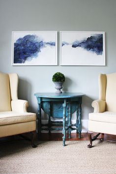 watercolor diptych.