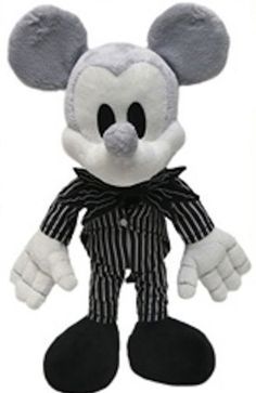 Disney Park Mickey Mouse as Jack Skellington Plush Doll NEW Nightmare Before Christmas by Disney,