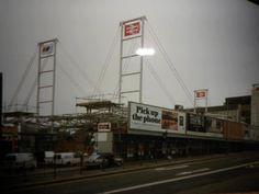 East Croydon station construction 1991