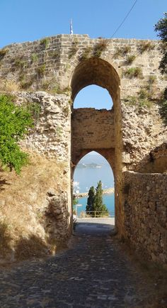 The town gate of the castle at Koroni, Messinia, Peloponnese, Greece
