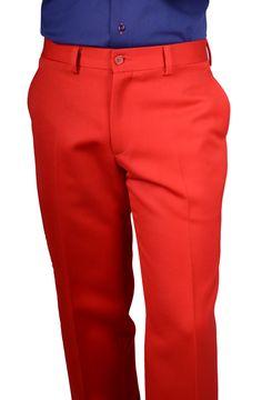 Pantalon hombre Rojo Lana 100% www.lacolonial.eu