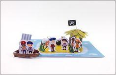 Vandaag leren we hoe we een schateiland met een groep piraten en matrozen kunnen maken. Wie zal als eerste de begraven schat vinden?