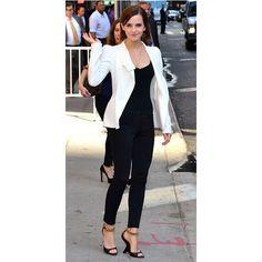 Emma Watson nails monochrome style for David Letterman show