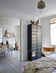 the home of danish designer brigitte rabens by the style files, via Flickr