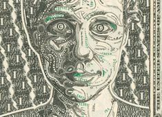 MARK WAGNER INC. collages made entirely from dollar bills