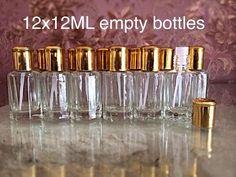 12 X 12ML Empty Bottles For Attar Ittr Perfume Oil !NEW!