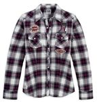 Women's Plaid Shirt with Patches. 96196-13VW