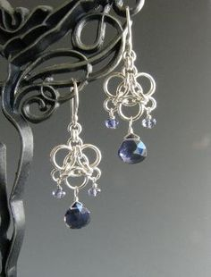 chainmaille earrings by minnie slade