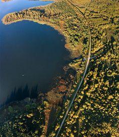 Zolotukha Lake and road, Russia - http://bestdronestobuy.com/zolotukha-lake-and-road-russia/