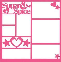 Sugar & Spice 12 x 12 Overlay Laser Die Cut