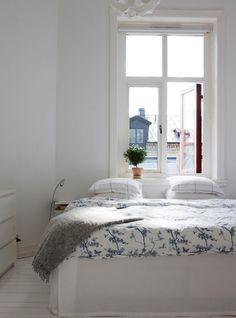 blue white blue white, bedroom