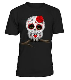 Owl in day of the death halloween costumes ideas, halloween costumes ideas, halloween costume ideas, halloween shirt Halloween Horror Nights, Halloween Night, Cute Halloween, Halloween Masks, Costume Halloween, Halloween Ideas, Cute Tshirts, Cool T Shirts, Birthday
