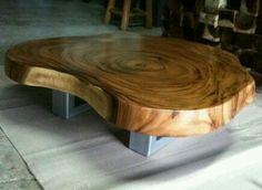 Acacia wood slab coffee live edge natural cutting