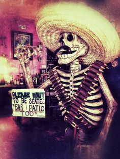 Mexican Skeleton Statue Photo. By Lana Guerra