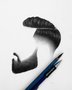 "4,948 Me gusta, 52 comentarios - @dhruvmignon en Instagram: ""First drawing of 2017 :) . . #art #hair #hairstyle #beard #sketch #artoftheday #photooftheday…"""