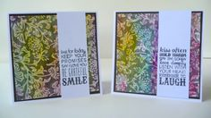 Gesso Stamped Dryer Sheet Card Set - Faber-Castell Design Memory Craft