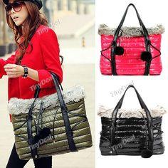 Fashion Strap Decorated Down Bag Handbag Shoulder Bag for Women Ladies NFN-126343