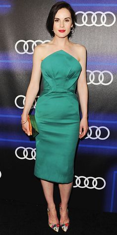 Look of the Day - August 22, 2014 - Michelle Dockery in Zac Posen from #InStyle