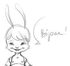 Bijou Rabbit BJD by LillyCat CeriseDolls