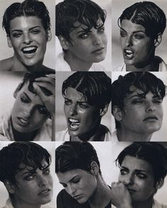 ☆ Linda Evangelista | Photography by Peter Lindbergh | For Vogue Magazine Italy | December 1989 ☆