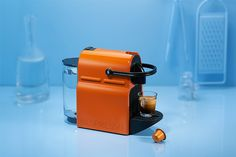 The new Inissia coffee machine in Summer Sun. Color Of The Day, Coffee Machine, Fulton, Summer Sun, Nespresso, Delish, Giveaway, Instagram, Colour