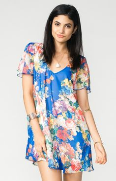 Kylie Mini Dress ~ Royal Garden  ~ Show Me Your Mumu