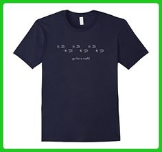 Mens Go For A Walk Footsteps Exercise T-Shirt 2XL Navy - Workout shirts (*Amazon Partner-Link)