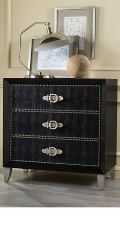 LUXURY BLACK AND GREY NIGHTSTAND   The natural choice for sophisticated master bedroom interiors   www.bocadolobo.com #bedroomdecor