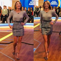 Who doesn't love their news anchors and reporters? Especially when they're total babes. Share pics and gifs of your favorite local and national. Women, Nice Tops, Gal Gabot, Amazing Women, Mini Skirts, Celebrity Feet, Amy, Fashion