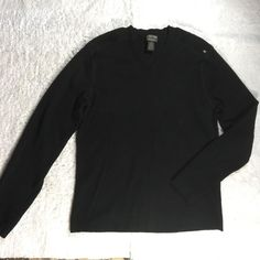 NWOT Mens Ralph Lauren Polo Jeans black sweater sz L V-neck Pullover  | eBay
