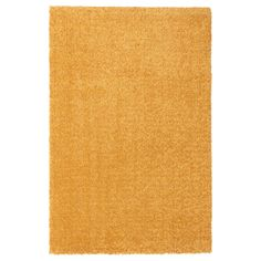 LANGSTED Matta, kort lugg, gul, 60x90 cm - IKEA