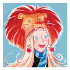 Luna & Lion Hat   ---   Casey Robin takes a cue from the picture books of the 1950s to make the pets of the Potterverse.