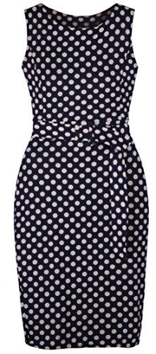 Women's Crewneck Sleeveless Polka Dot Slim Pencil Dress With Belt 10P Eyekepper http://smile.amazon.com/dp/B00BFC0GMY/ref=cm_sw_r_pi_dp_aAXlub14C16YB