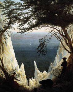 Chalk Cliffs on Rügen by Caspar David Friedrich