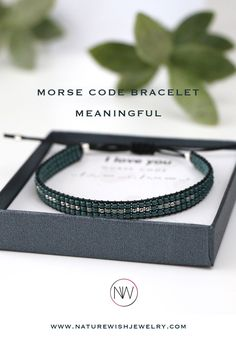 Personal and Meaningful gift for your loved one! Beaded Morse Code Bracelet Morse Code Bracelet, Beaded Wrap Bracelets, Meaningful Gifts, Bracelet Making, Seed Beads, Natural Gemstones, Coding, Friends, Jewelry