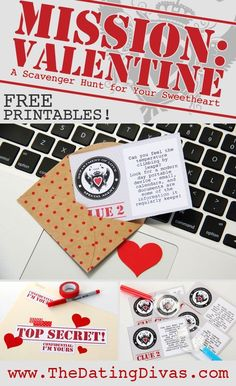 Mission: Valentine (from The Dating Divas) Valentine Day Love, Valentine Day Crafts, Holiday Crafts, Holiday Fun, Valentine Stuff, Husband Valentine, Holiday Themes, Holiday Ideas, Valentine's Day Quotes