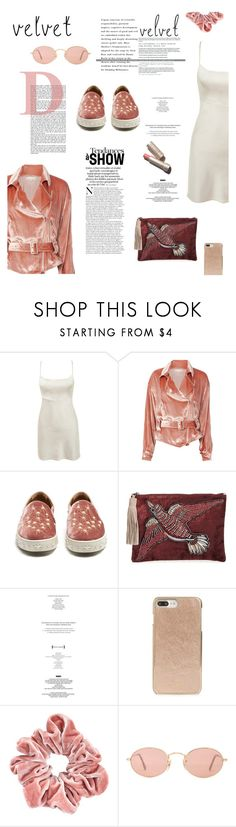 """V••V"" by mictlantecuhtli ❤ liked on Polyvore featuring Fleur du Mal, Aquazzura, Sam Edelman, StyleNanda, Kate Spade and Ray-Ban"
