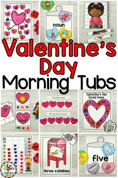 Are you looking for a better way to start the school day? These #FebruaryMorningTubs are entertaining and engaging morning activities that your students will love. Included are 10 fun, hands-on activities that your students can use independently to learn and review literacy and math concepts. Click on the picture to learn more about these #ValentinesMorningTubs!