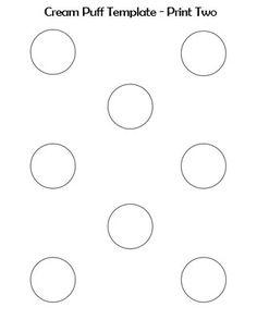 Printable 1 Inch Macaron Template Circle cakepins.com