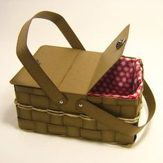 paper picnic basket - bjl